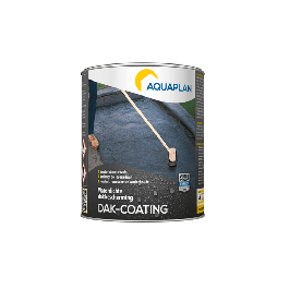 Aquaplan Dak-coating 1Kg | Soepele bitumineuze renovatiecoating