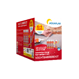 Aquaplan Vochtbarrière kit 4+1 | Gebruiksklare injectiegel