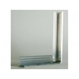 Aquaplan Buitenhoekprofiel 60MM 20X20CM | Aluminium dakrandafwerking